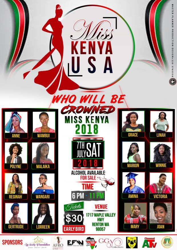 Miss Kenya USA 2018 Flyer